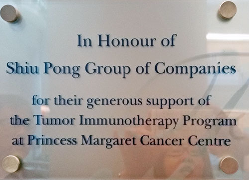 Shiu Pong Group Supporting Leading Immunotherapy Research